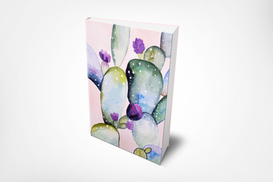 Watercolor Cactus Planner ~ 200 Numbered Pages, Index & Blank Calendars