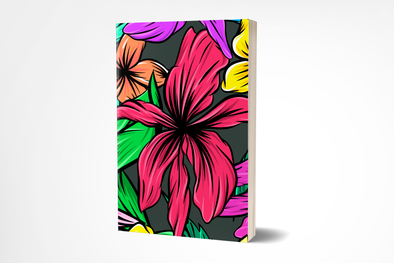Tropical Flowers Planner 200 Numbered Pages, Index & Blank Calendars
