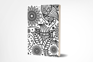 Zentangle Floral Journal ~ 4 x 6 or 7 x 10 Size