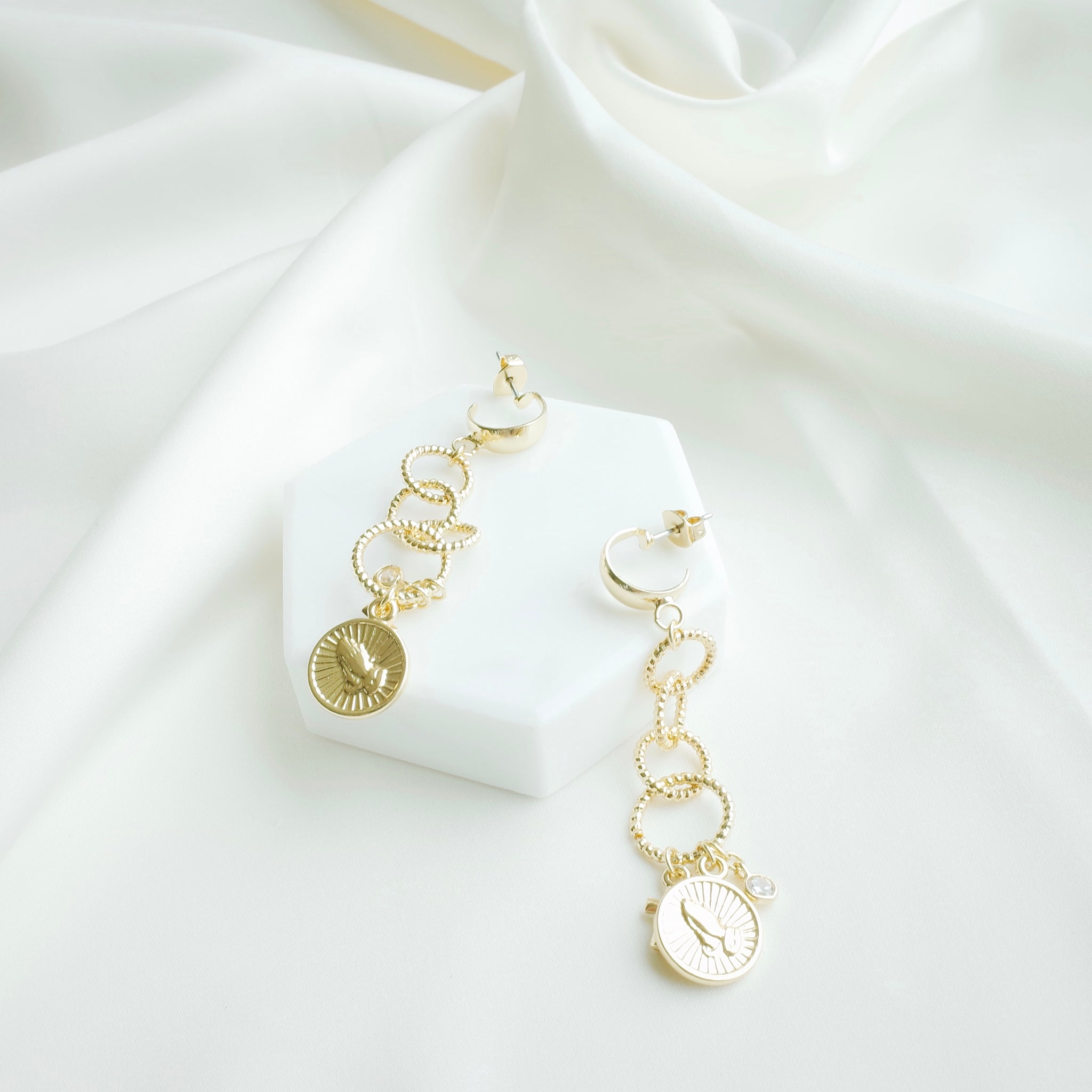 Divine Drop Earrings in Gold