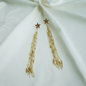 Star Commander Earrings in Gold