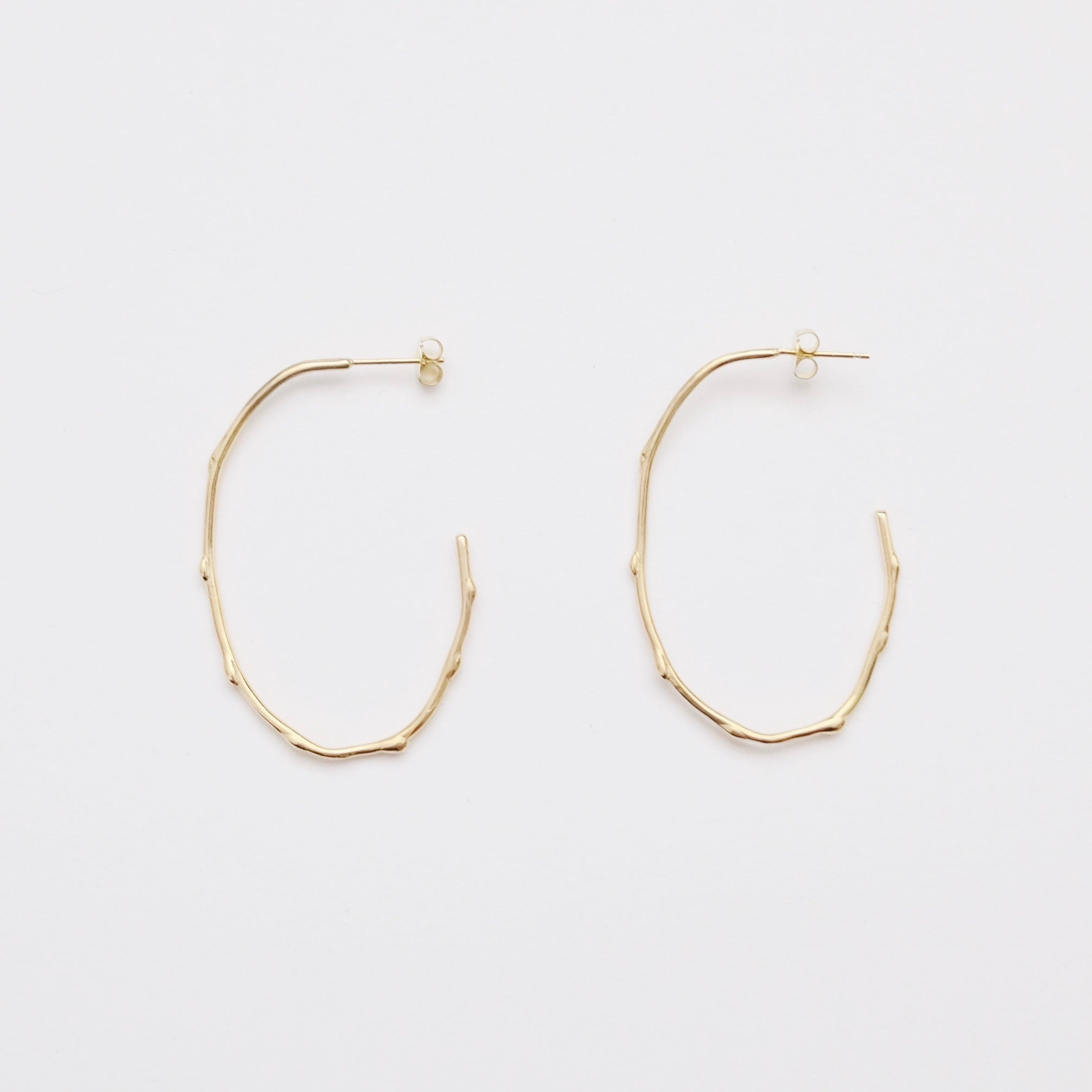 Dot Oval Earring - Gold (925 Silver)