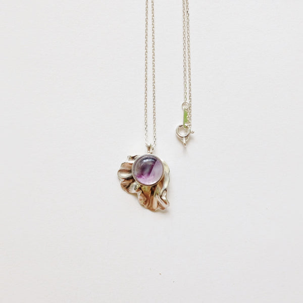 Dewy Leaf Necklace (Silver)
