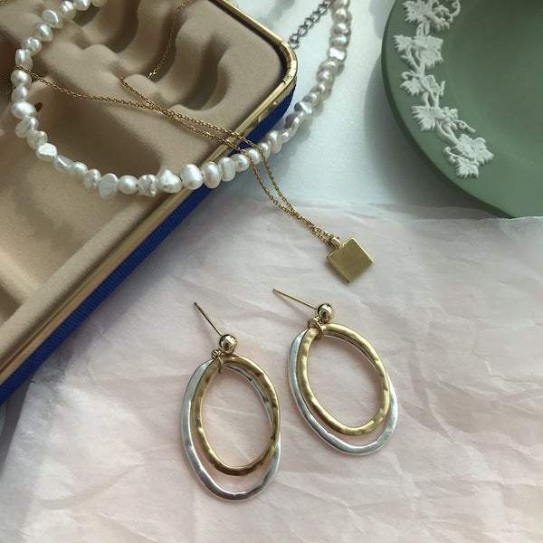 Double Rings Earrings