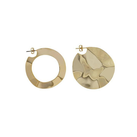 Tidal Wave Gold Earrings
