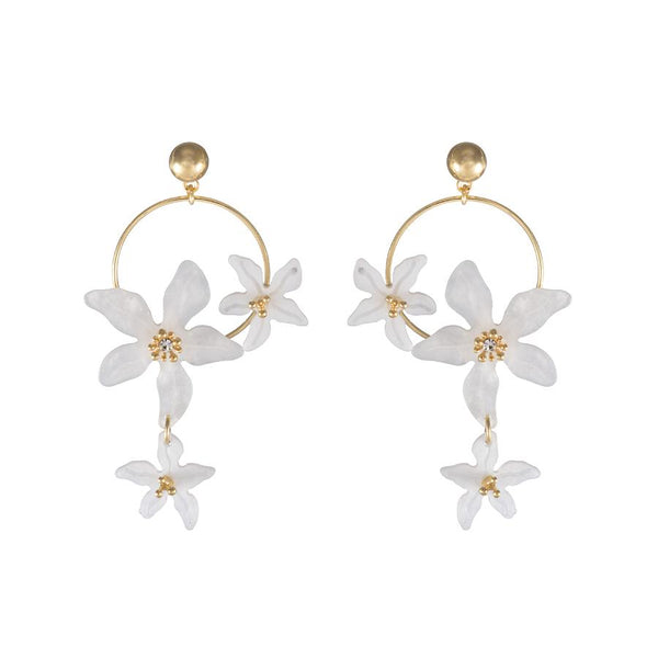 Lucia Hoop Ivory Earrings