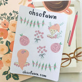 In The Rose Garden Sticker Kit