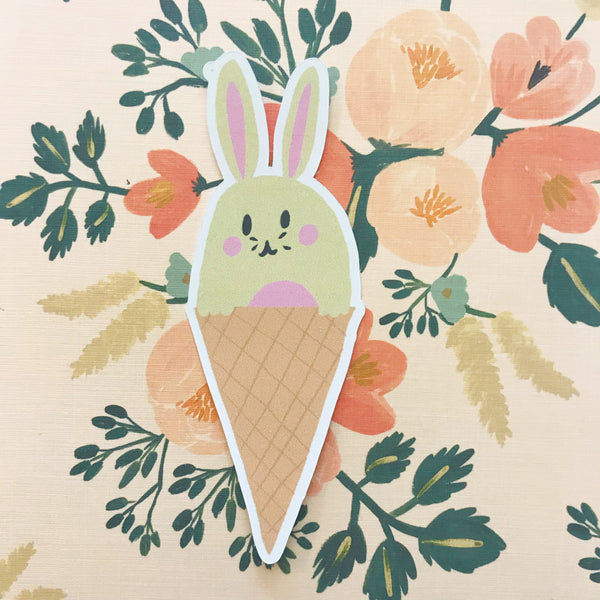 Bunny Ice Cream Die Cut