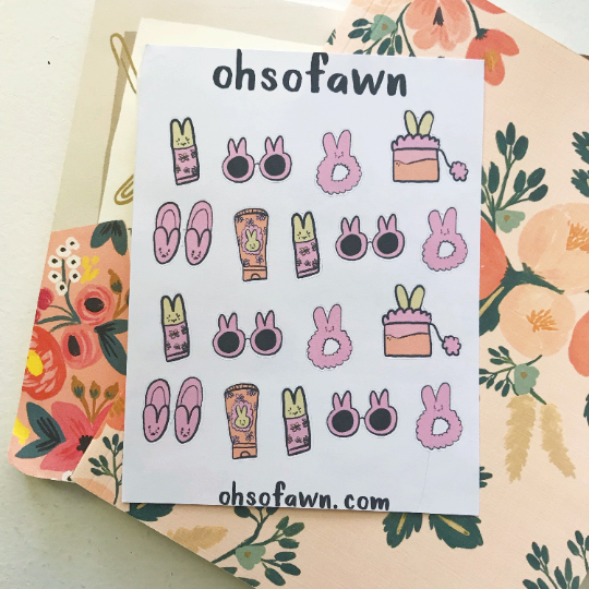 Bunny Glam Stickers