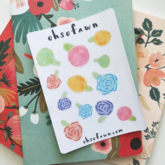 Botanical Flower Stickers