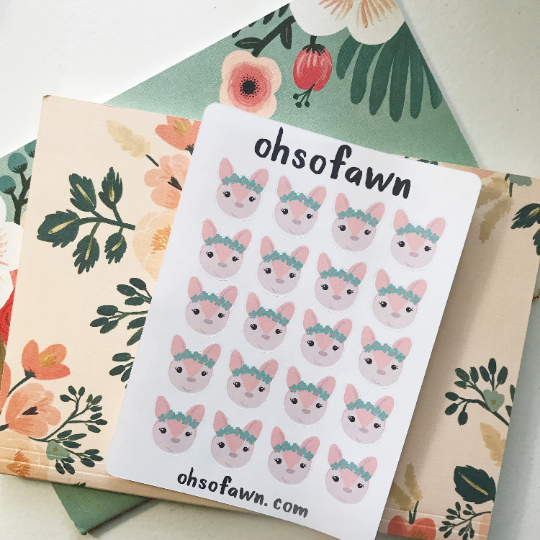 Pastel Fawn Stickers