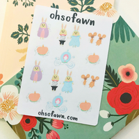 Bunny Cinderella Sticker Kit