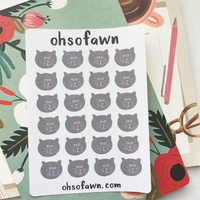 Gray Kitty Stickers