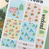 Camping Sticker Kit