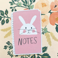 Bunny Notebook Die Cut