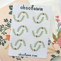 Fall Wreath Stickers
