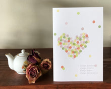Load image into Gallery viewer, Dotted Love Card (1 Corinthians 13:7) - Our Best Seller!