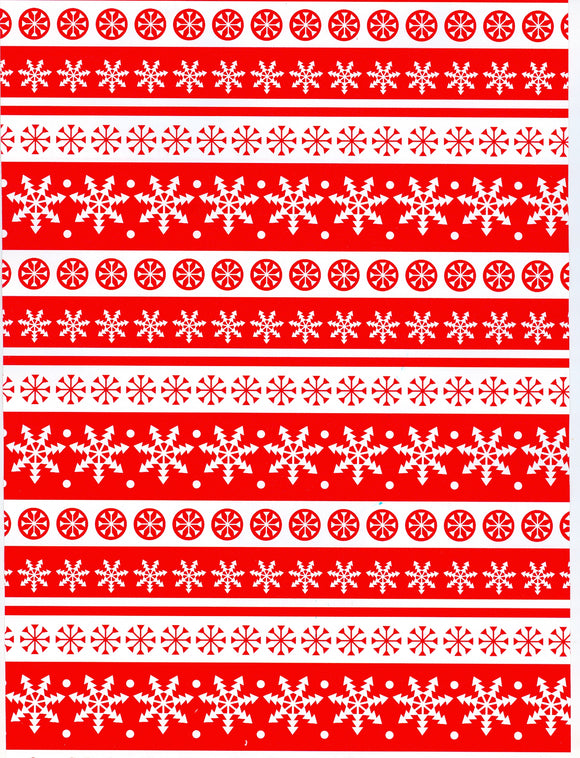 RED/WHITE SNOWFLAKES