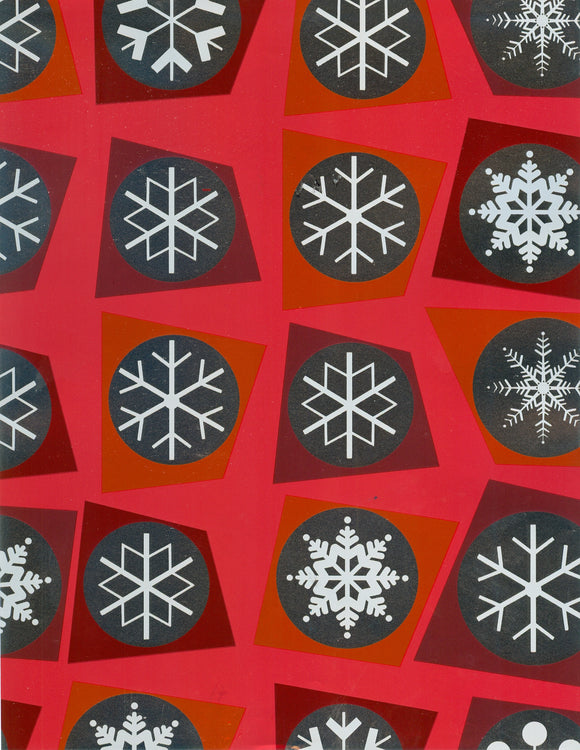 RED/SIL SNOWFLAKES (NEW)