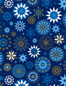 BLUE/GOLD SNOWFLAKES