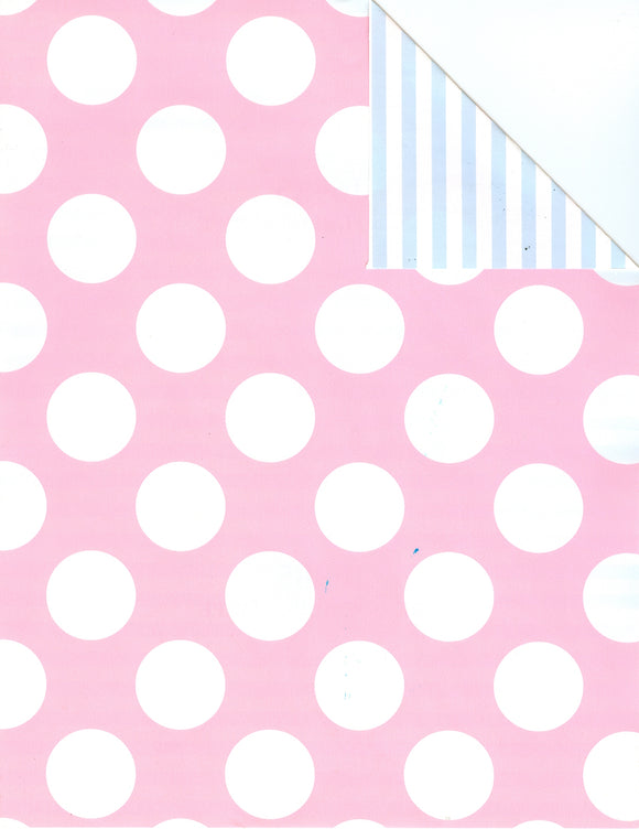 PINK DOT/BLUE STRIPE