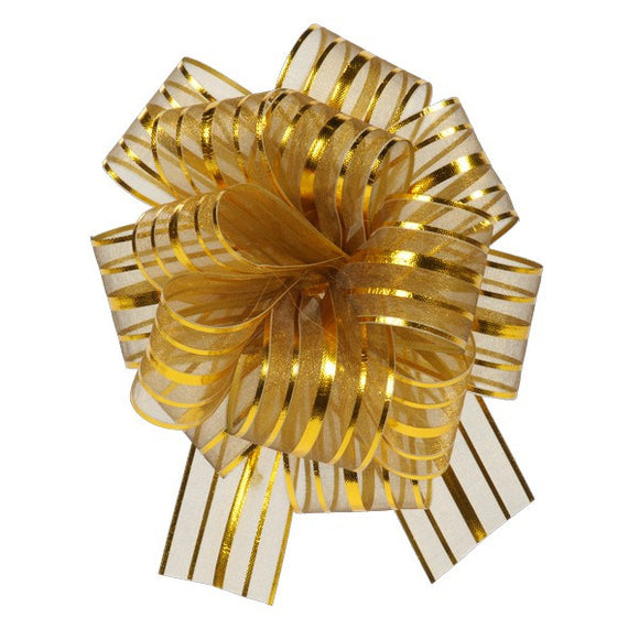 Organza Stripe Multi-Loop Bow (25 or 50 pack)