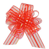 Organza Stripe Multi-Loop Pull Bow (25 or 50 pack)