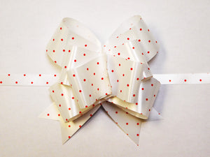 "4 1/2"" Swiss Dot Pattern Butterfly Kwik Bow (25 pack)"