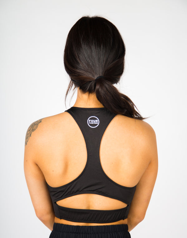 Catalyst Cropped Sports Bra - Black