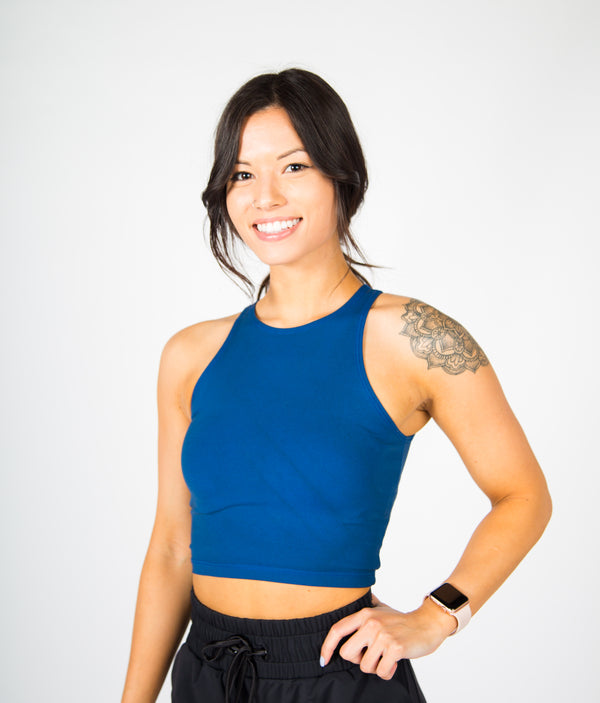 Illusion Crop Top - Classic Blue