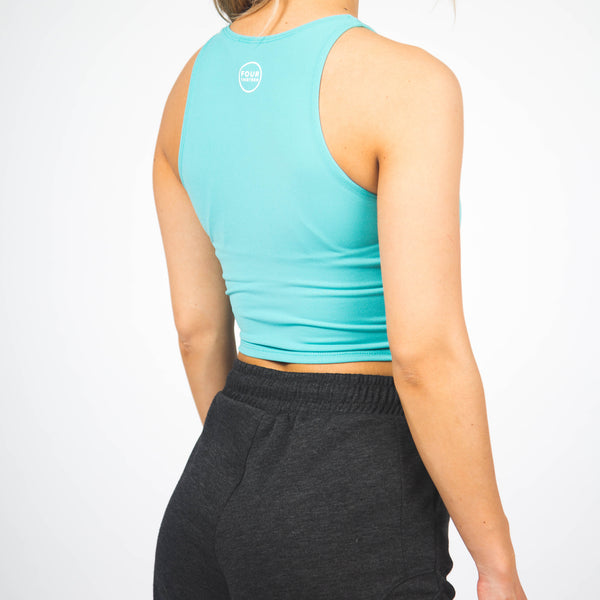 PRE-ORDER Illusion Crop Top - Seafoam