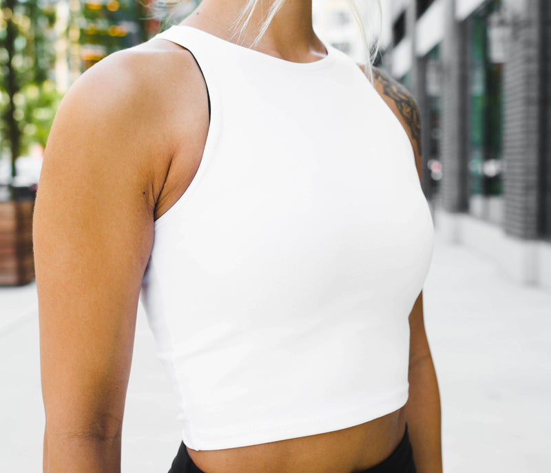 Illusion Crop Top - White