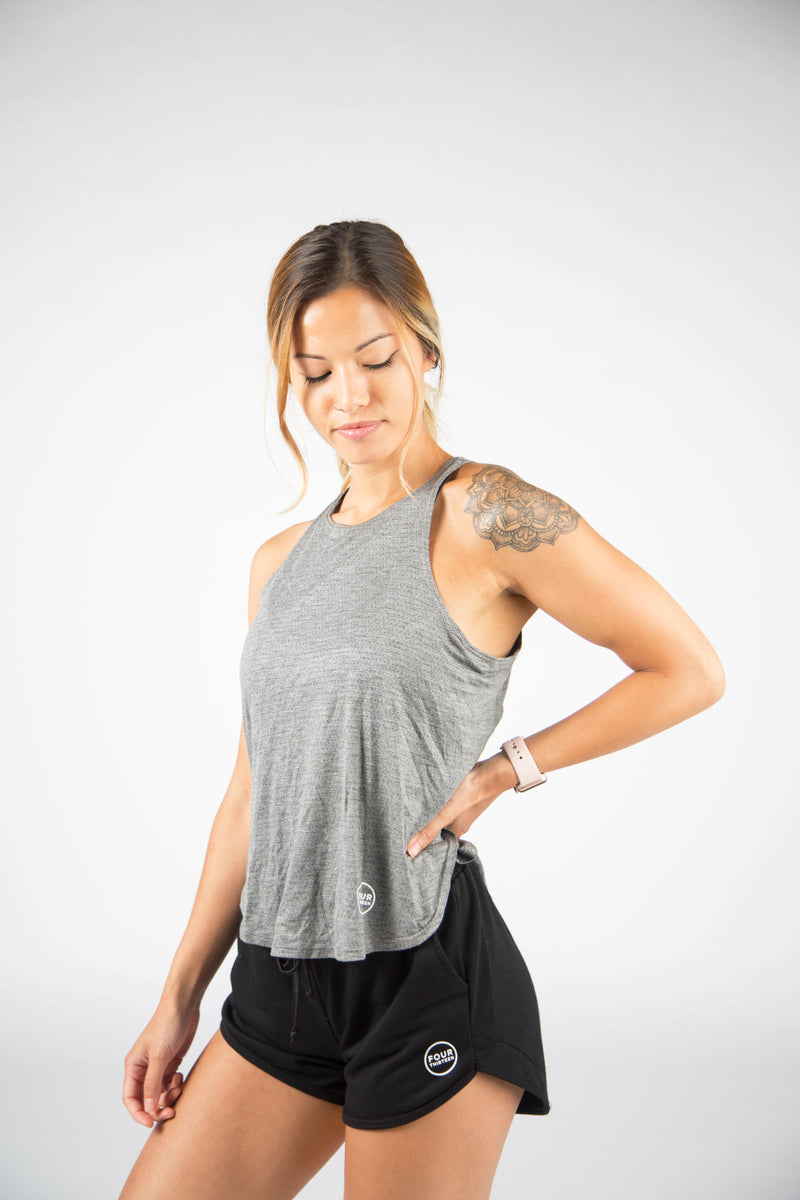 Flow Fit Tank - Grey