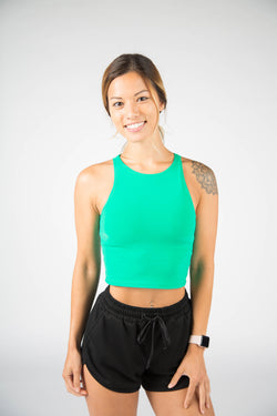 Illusion Crop Top - Mint Green