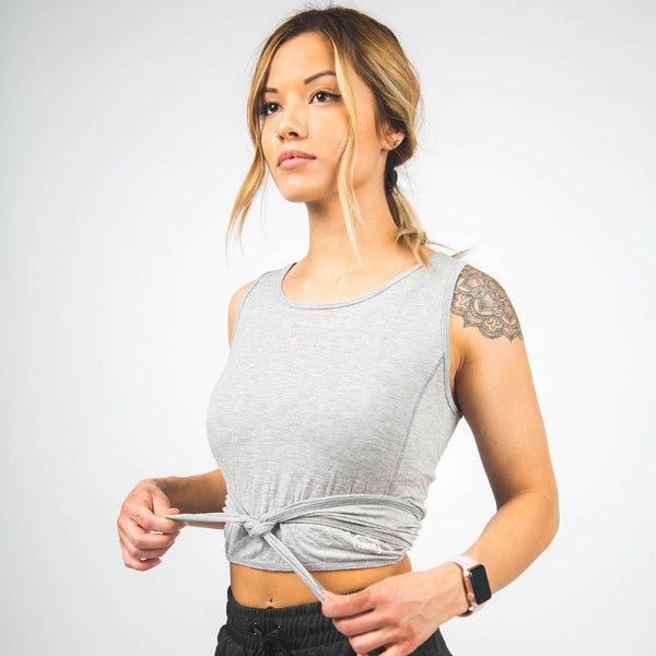 Tie Tank - Heather Grey