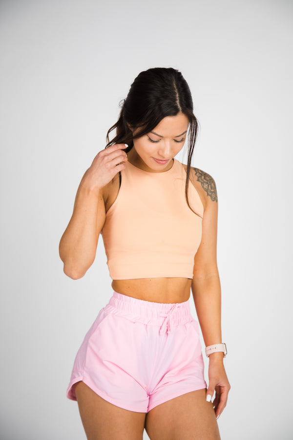 Illusion Crop Top - Peach