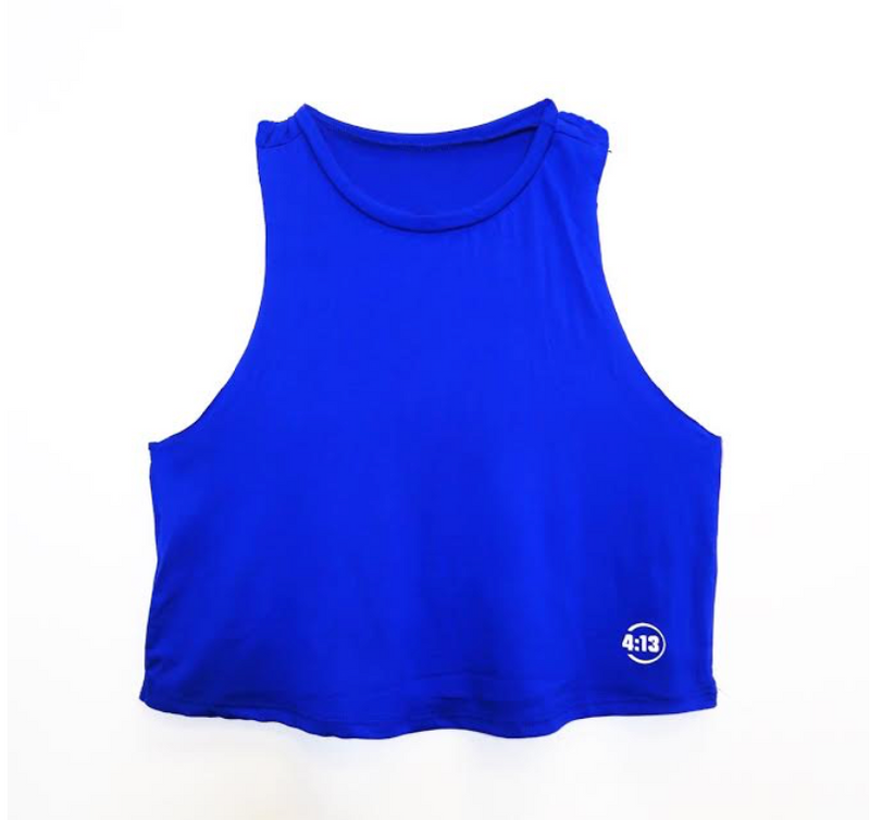 Breeze Crop: Final Sale Item - Blue