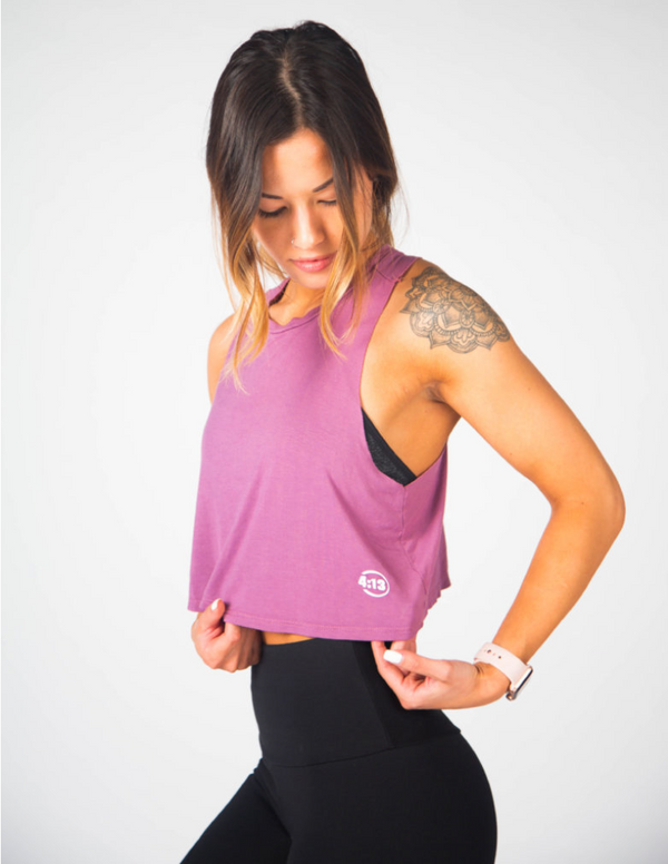 Breeze Crop: Final Sale Item - Dusty Rose