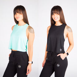 Seafoam and Black Breeze Crop Bundle