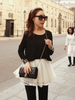 cutout sweater and puffy skirt set