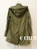 hooded drawstring utility parka