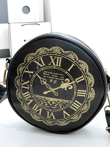"""I am late"" vintage clock bag"