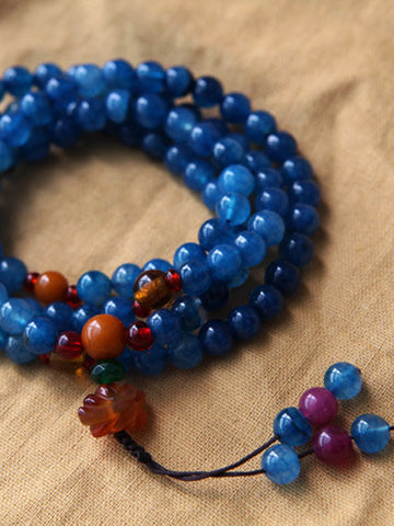 Zen agate blue necklace/bracelet