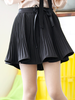 pleated flounced pantskirt