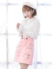 rabbit pattern A-line skirt
