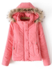 candy color puff jacket