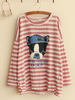 striped bulldog long-sleeve top