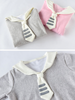 navy collar plush sweatshirt