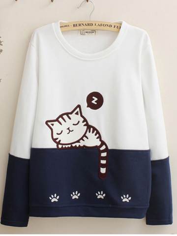 dozing cat sweatshirt