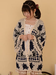 mori girl fall wrap cardigan